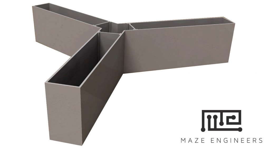 Y maze is similar to the T maze, except with three arms at 120 degrees to each other