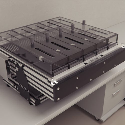 Maze Engineers automated Treadmill utilizes ultra quiet precision mechanical mechanisms