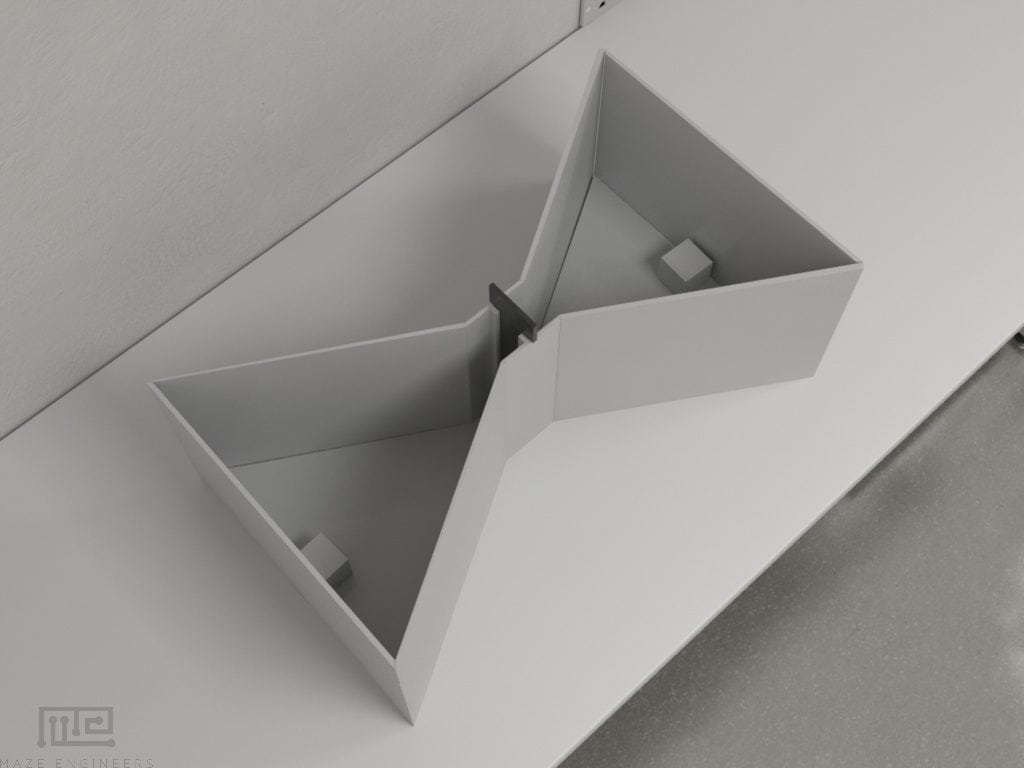 Bowtie mazes are used for a variety of choice experiments for mice and rats
