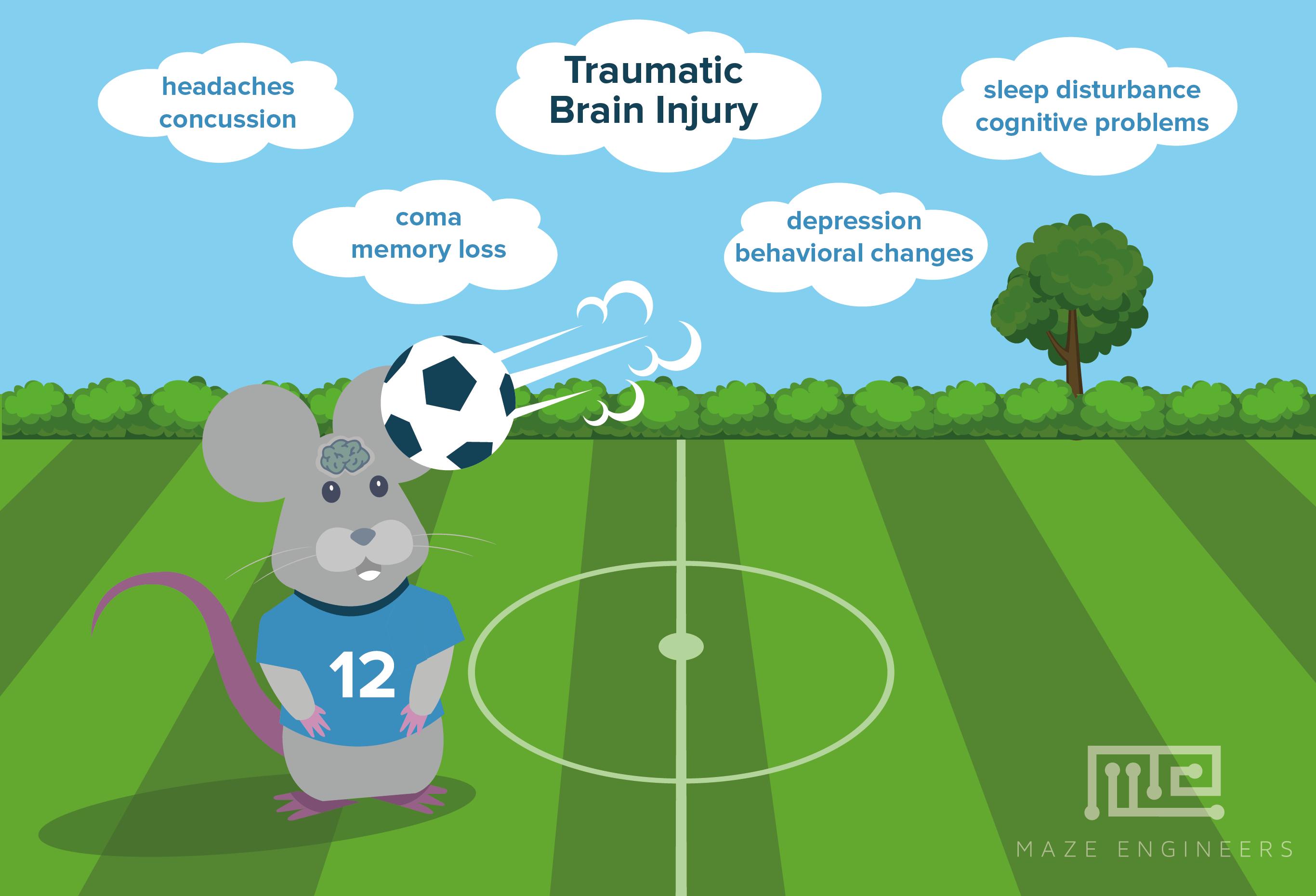symptoms of Traumatic Brain Injury in sports