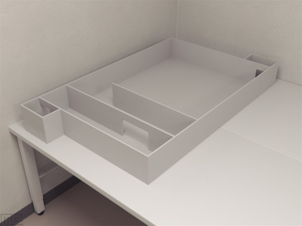 The Dennis Rectangular maze is a 3 x 4.5 feet (the inside measurements were 36″ x 54″ x 7″) with two removable cross-walls running the width of the maze