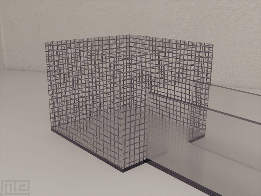 Mazeengineers modification of the Y maze includes two removable rectangular wire grid cages for social interaction