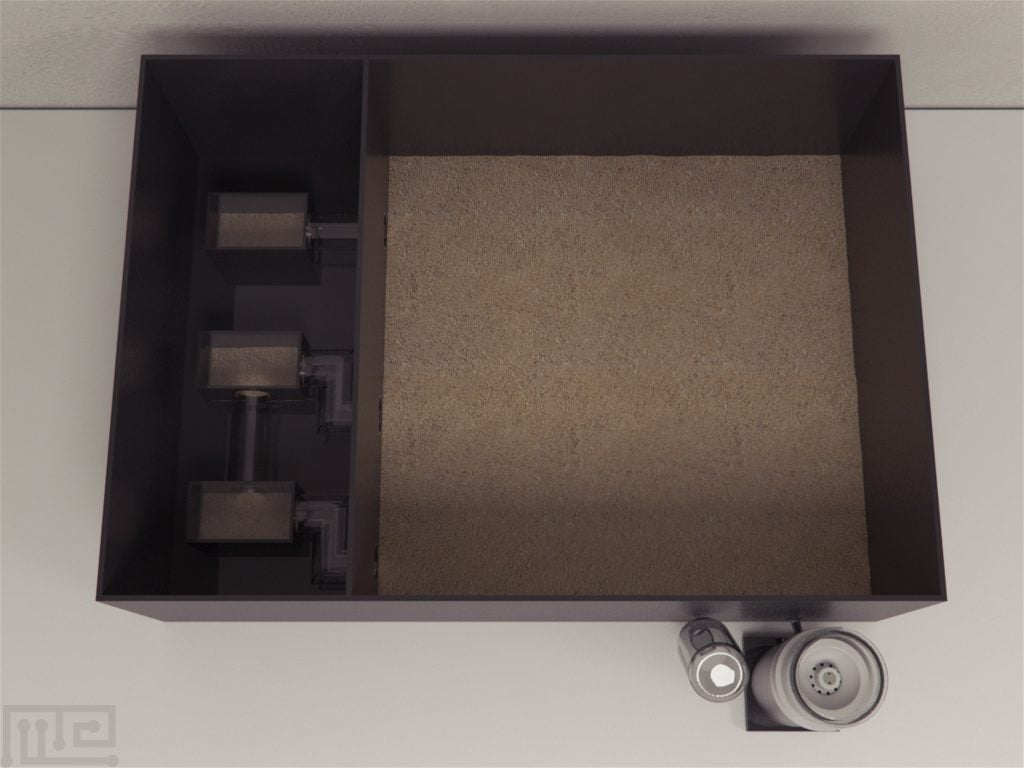 Each colony in the Visual Burrow System is housed in a rectangular acrylic chamber