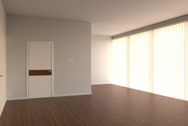 empty apartment environment is modifiable and comes modifiable for placement of furniture