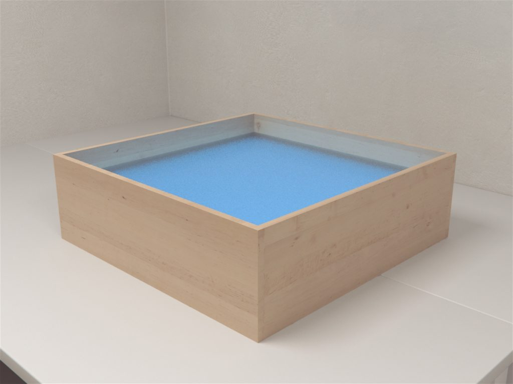 MazeEngineers offers generic backlighting display cases for use with smaller mazes such as the open field