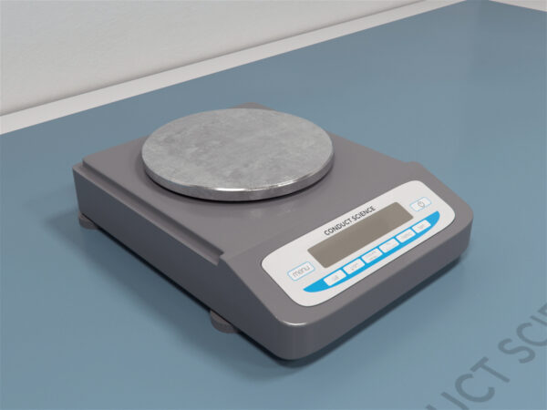 Compact Balance Offers a variety of weighing options: grams, ounces, and carats