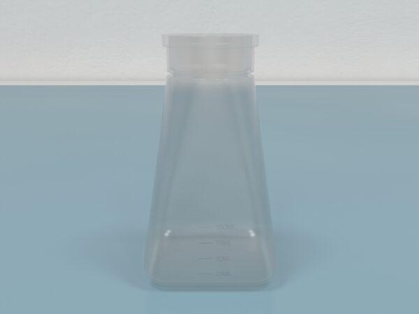 Drosophila Bottles, 6oz., PP, Square Bottom