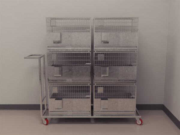 Trolley With In-Built Rabbit Cages