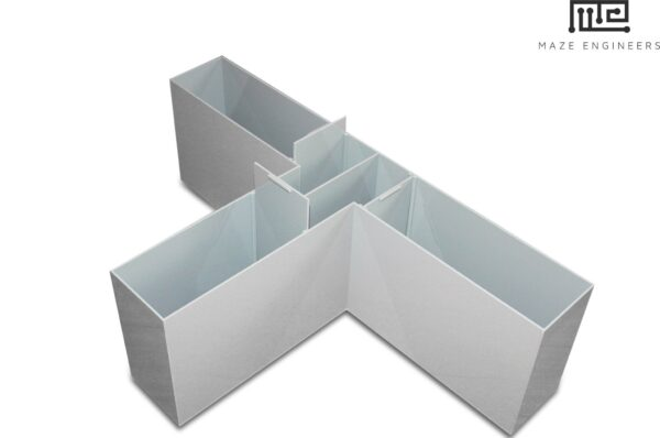 The T maze is an enclosed apparatus in the form of a T placed horizontally, similar to the Y maze.
