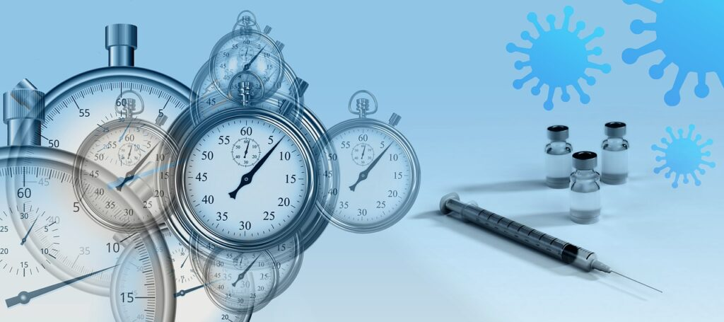 Clocks ticking - COVID-19 vaccine - News article featured image